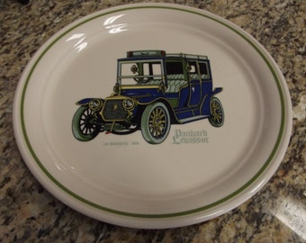 Vintage Plate from Ireland - Brendan Erin Stone Made in Arklow - Shows Panhard Levassor - Perfect Condition