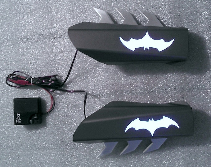 Batman Gauntlets with Flat Panel Light Effects