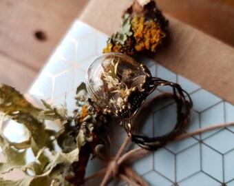 Lichen Terrarium Ring
