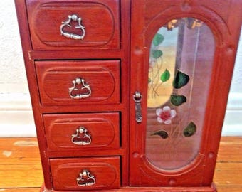 Vintage jewelry armoire Etsy