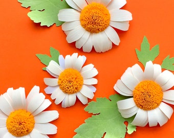 DIY Daisy, Paper Flower Template for Silhouette or Cricut Explore (SVG, DXF)