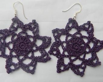 Crochet Earrings Star