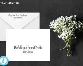Envelope Template, Editable Template, Wedding Envelope Template, Printable Wedding Envelope Template, Wedding Template, Printable, DIY