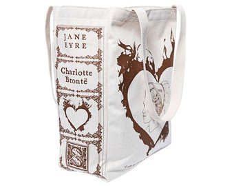 Jane Eyre Book Tote - Charlotte Bronte, Tote Bag, Literary, Book Lover, Books, Literature, Teacher Gift, Gift for Reader