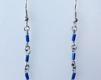 Blue Diodes Earrings