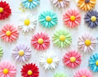 Daisy Flower Fridge Magnet, Daisy Magnets, Flower Magnets, Mixed Color Floral Magnet, Decorative Magnet, Locker Magnets, Super Strong Magnet