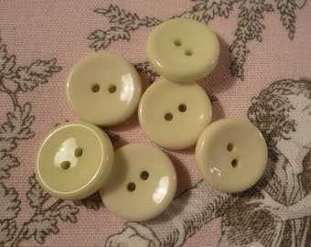 6 buttons pale green 1.70 cm in diameter