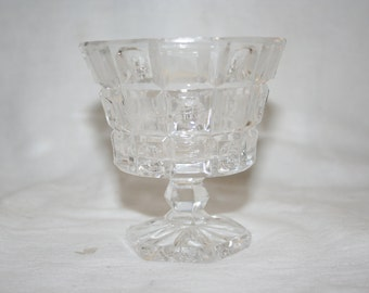 Sherbert Ice Cream Sundae Dessert Dish Cut Crystal Very Nice
