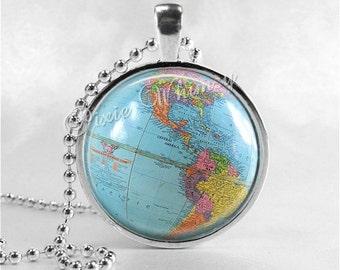 Globe purse hook vintage world map globe purse hanger purse vintage globe necklace vintage globe pendant vintage world map planet earth vintage gumiabroncs Gallery