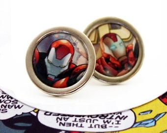 Recycled Comic Book 'Iron Man' Cufflinks