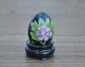 Vintage Cloissone metal egg - Oriental - Miniature