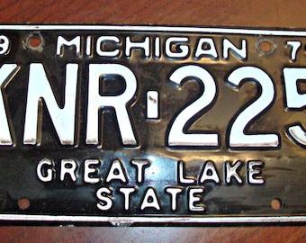 Vintage 1979 MICHIGAN License Plate