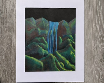 Waterfall Acrylic Painting 02