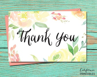 Thank You PRINTABLE CARD, Thank You Card, Printable Wedding Stationery, Thank You Digital Download, Thank You Card, Thank You E-Card 20