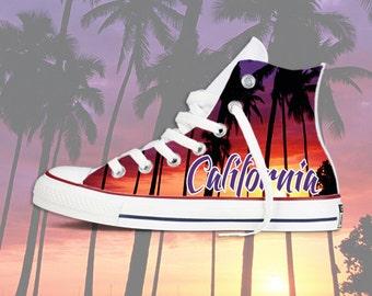California Sunset  Custom Converse