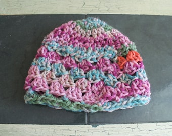 Pink baby girl hat, Crochet Baby Cloche, Baby Sock Cap, Pink Infant Beanie, Baby Spring Easter Hat, Snow Hat, Crochet Cloche, Toddler