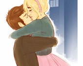 Doctor and Rose - Art Print