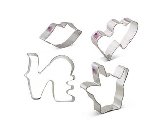 Love Is In The Air Cookie Cutter Set, 4 pc,  Ann Clark, Tin Plated Steel