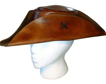 Leather Tricorn/Pirate hat