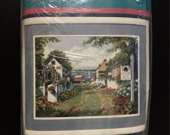 Vintage Needlepoint Kit~Bayside Lane