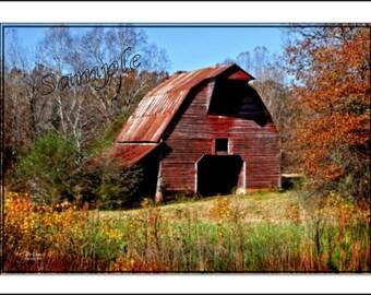 Old Barn Fine Art Photo Card Fall Colors