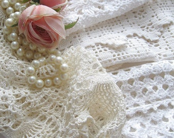 Bulk Lot of Crochet Doilies, Six Pieces, Crochet, Shabby French, Sewing Supplies, Tea Party Centerpieces, by mailordervintage on etsy