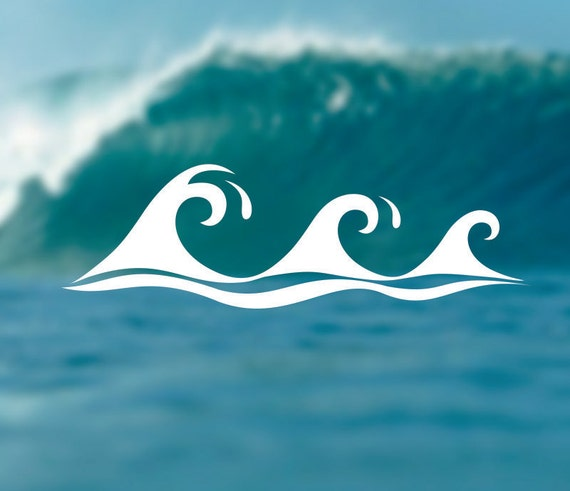 Waves decal adventure sticker surfing decal beach sticker car window decal bumper sticker laptop decal summer decal phone decal from