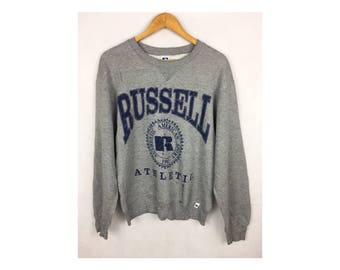 RUSSELL ATHLETIC Long Sleeve Sweatshirt Pull Over Small Size Made In USA