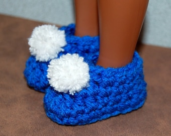"""Pattern pdf Crochet Slippers to fit 14 inch Wellie Wishers Betsy McCall Heart for Hearts and 13"""" Les Cheries Doll"""