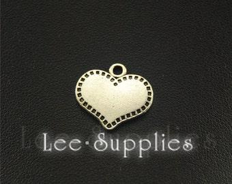 30pcs Antique Silver Love Heart Charms Pendant A1548