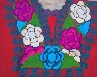 Mexican Embroidered blouse Size XL/