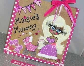 New Mummy Baby Shower Jute Bag