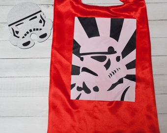 Personalized Storm Trooper  Superhero Cape and Masks set costume Party Favor Birthday, Christmas Stocking Stuffer