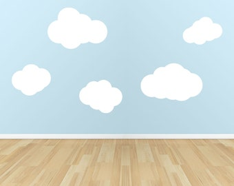 Clouds Vinyl Wall Decal Set of 6.............Your choice of color""