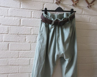 Quirky Lagenlook balloon shaped  pantaloons,,bloomers,magnolia, in lovely soft babycord,,cuffs, pearl Sz UK 10-16 , US 10-14