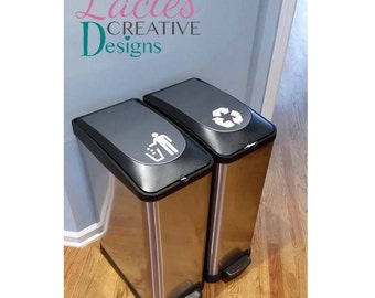 Recycling and Trash Vinyl Decals