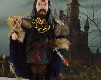 Shakespeare Macbeth Doll Classic Literature Literary Art Handmade Figurine
