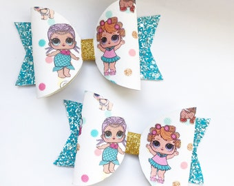 Lol dolls glitter bows, handmade bows, party bows