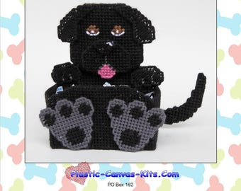 Black Labrador Retriever Dog Treat Holder-Plastic Canvas Pattern-PDF Download