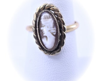 Vintage Cameo Ring Statement Ring Gold Ring Vintage Ring Vintage Jewelry Boho Chic Antique Ring Victorian Ring Gift For Girl Friend