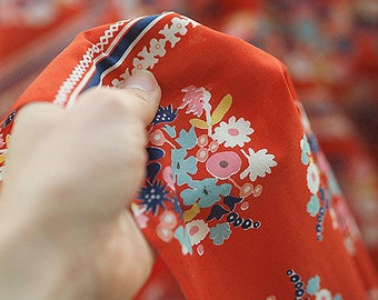"""Vivid Red, 60S Silky Cotton Fabric, by Yard, 145cm(47"""") Width"""