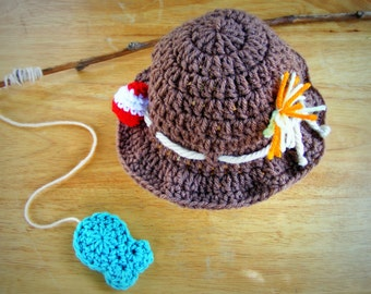 Fisherman Hat, Fishing Hat, Fishing Baby Prop, Newborn Fishing Prop, Baby Shower Gift, Fisherman Prop Set, Crochet Fishing Hat, Fishing Prop