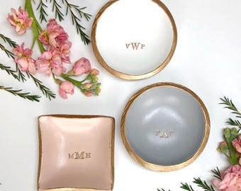 Personalized Ring Dish / Monogram Jewelry Dish / Gift For Her / Bridesmaid Gift / Personalized Jewelry Dish / Engagement Gift / Wedding Gift