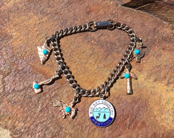 Big Sky Montana Bracelet Souvenir  Charm Bracelet