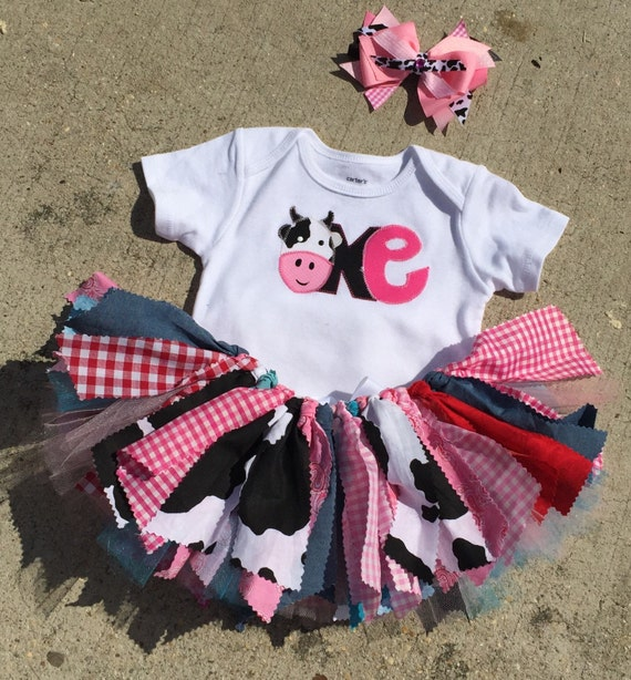 Barnyard Birthday Outfit Cowgirl First Birthday Farm