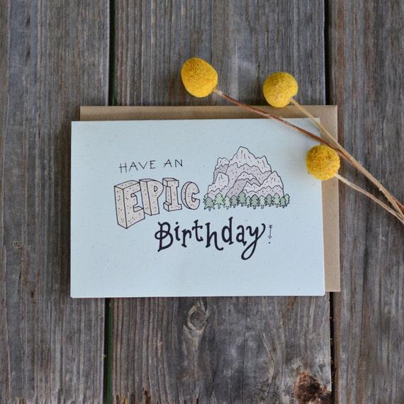 Manly birthday card mountain birthday card birthday card like this item bookmarktalkfo Gallery