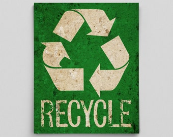 Recycle Print Poster Environmental Sign Science Teacher Gifts for Teachers Science Art Dorm Poster Dorm Decor Save the Environmental Poster