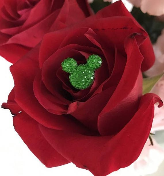 Disney Wedding FREE SHIP 6 Hidden Mouse Ears in your Bouquets for Themed Wedding Bright Green Mouse Inspired Wedding
