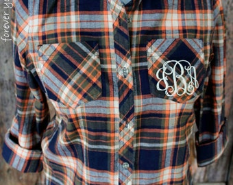 Monogrammed Plaid Flannel