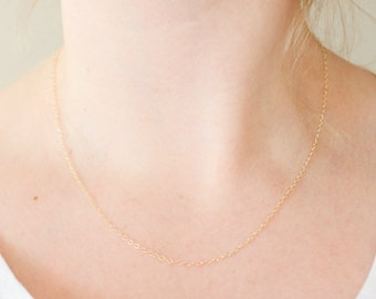 Gold Chain Necklace, Gold Chain, Gold Necklace, Short Necklace, Delicate Gold Necklace, Minimalist Necklace, Simple Gold Necklace